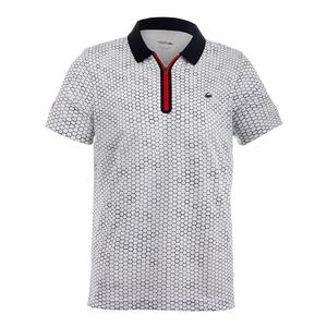 Men`s T1 Printed Ultradry with Zipper Placket Tennis Polo