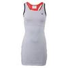 Women`s Sleeveless Mesh Layer Racerback Tennis Dress NT8_WHITE