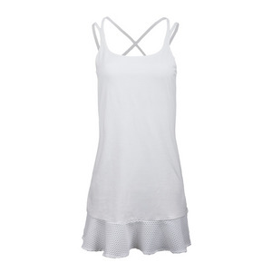 POLO RALPH LAUREN WOMENS ELITE WICKING DRESS PURE WHITE
