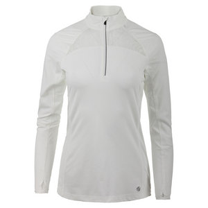 LIJA WOMENS STRIDE 1/4 ZIP TENNIS PULLOVER WH
