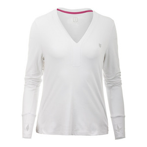 Women`s Champion Long Sleeve Tennis Top White