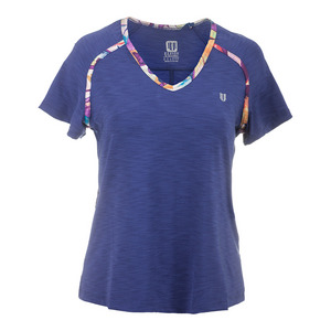 Women`s Flying Vee Tennis Top Navy Blue