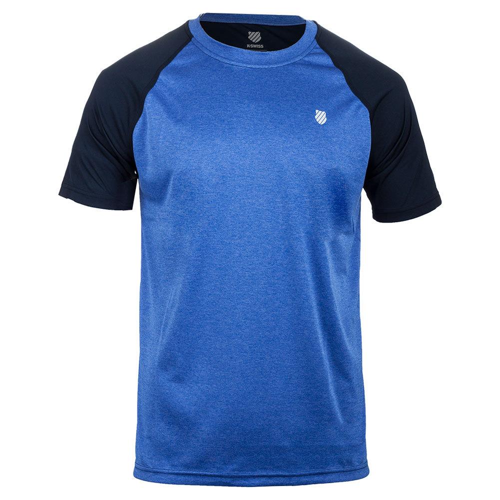 Men's Backcourt Tennis Crew Dazzling Blue Marl And Dress Blue