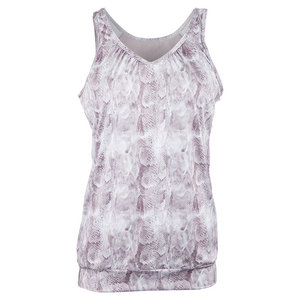 Women`s Sideline Tennis Top Taupe Print