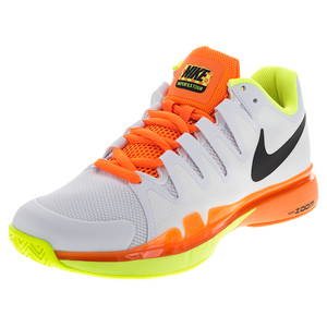 Men`s Zoom Vapor 9.5 Tour Tennis Shoes White and Volt