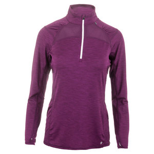 Women`s Stride 1/4 Zip Tennis Pullover Acai