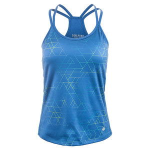Women`s Ombre Tangram Double Up Tennis Tank