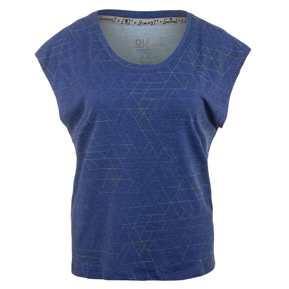 Women's Ombre Tangram Morgan Tennis Tee Turkish Blue