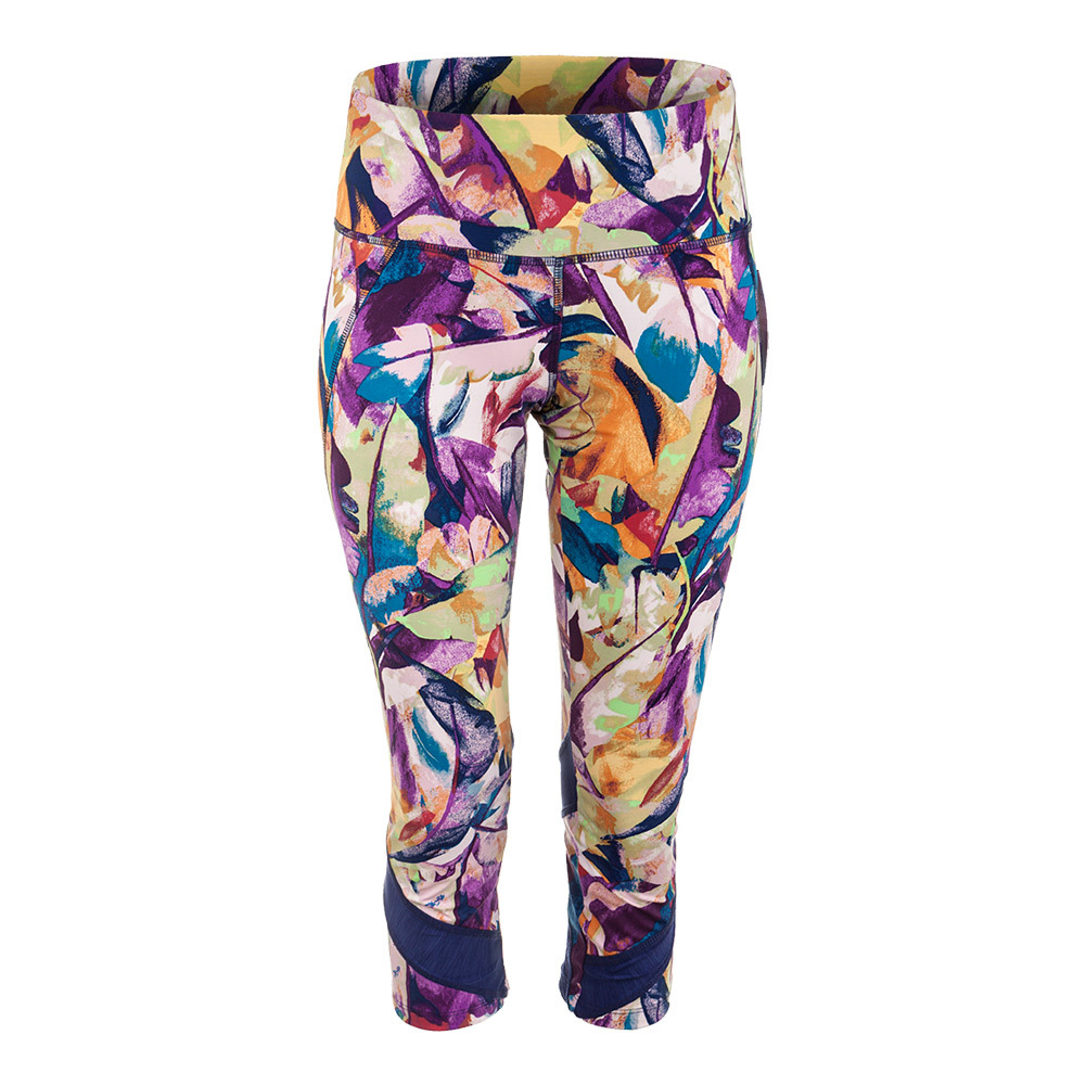 Women's Voltage Tennis Capri Prism Print