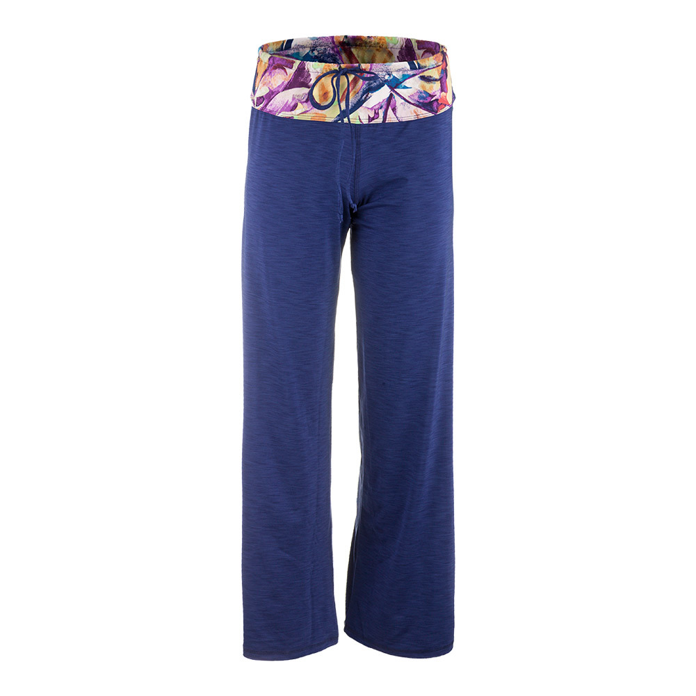 Women's Cooldown Tennis Pant Navy Blue And Prism Print