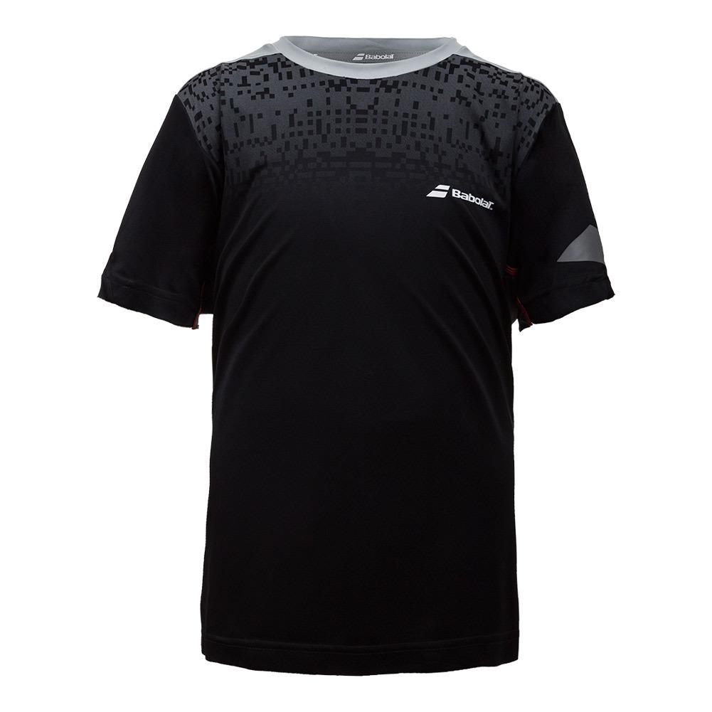 Boys ` Perf Crew Neck Tennis Tee Black