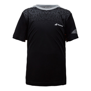 Boys` Perf Crew Neck Tennis Tee Black