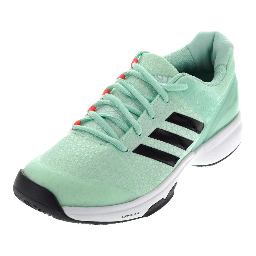 Women's Adizero Ubersonic 2 Tennis Shoes Ice Green And Utility Black