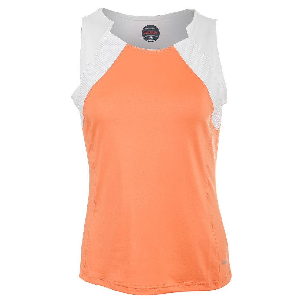 Women's Gabriella Tennis Tank Orange And White