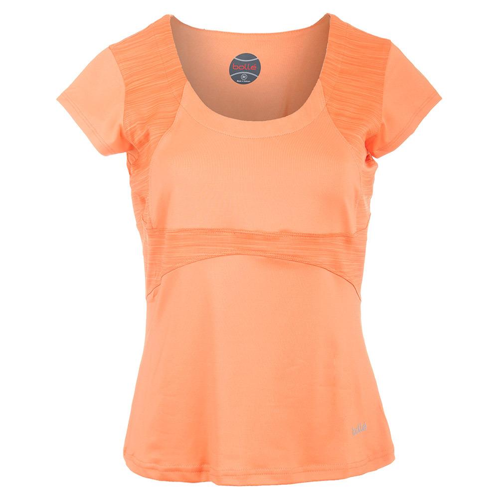 Women's Gabriella Cap Sleeve Tennis Top Orange