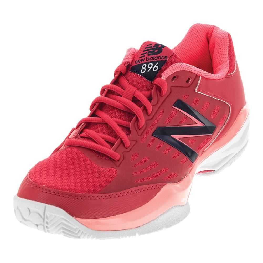 Women's 896v1 B Width Tennis Shoes Bright Cherry And Guava