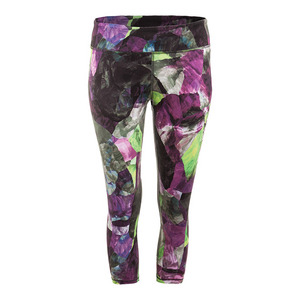 Women`s No Fear Tennis Capri Foliage Print