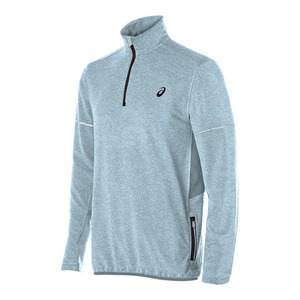 Men`s Lightweight Fleece 1/2 Zip Top Arona Heather