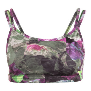 Women`s Define Double Strap Tennis Bra Foliage Print