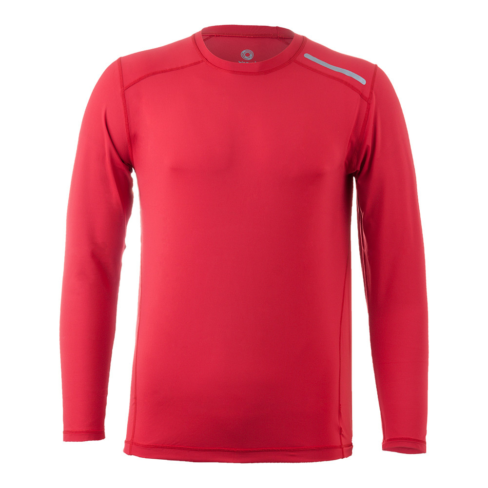 Men's Long Sleeve Jet Tennis Tee Red
