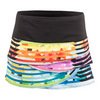 LUCKY IN LOVE Women`s Behind the Scenes Scallop Tennis Skort Print