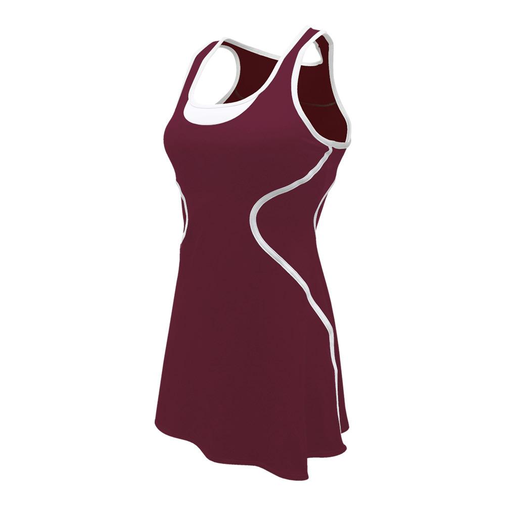 Women's Sophia Tennis Dress Burgundy