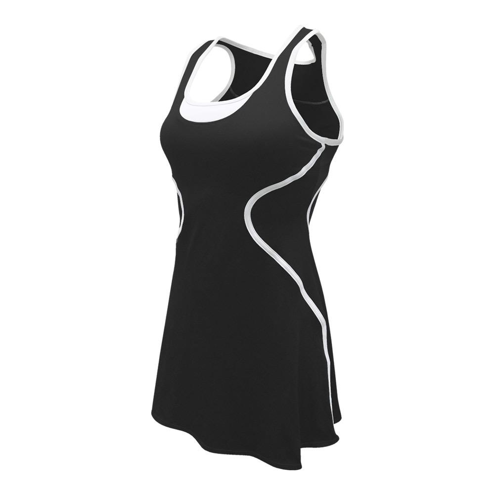 Women's Sophia Tennis Dress Black