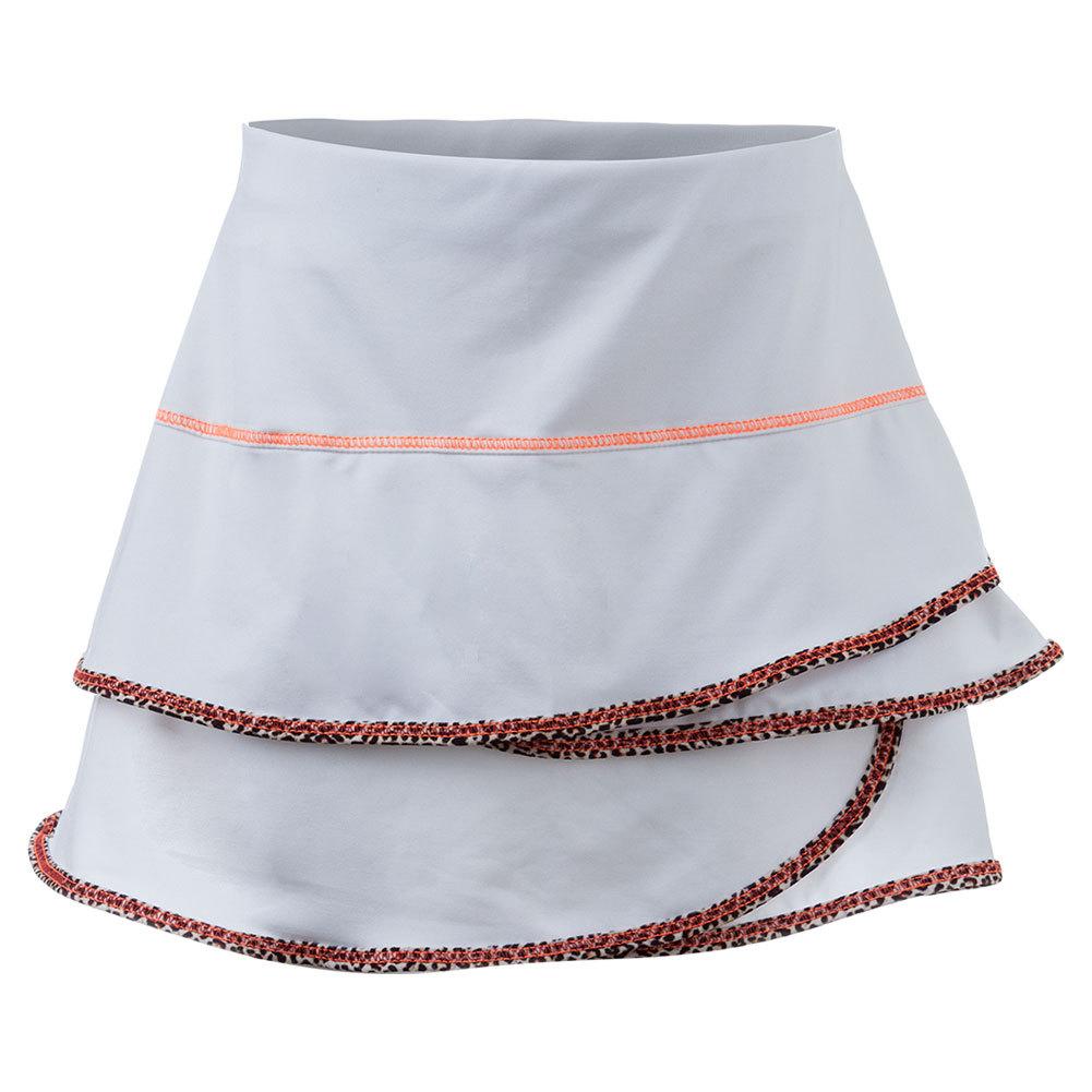 Girls Scallop Tennis Skort White