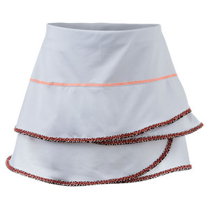 Girls Scallop Tennis Skort White