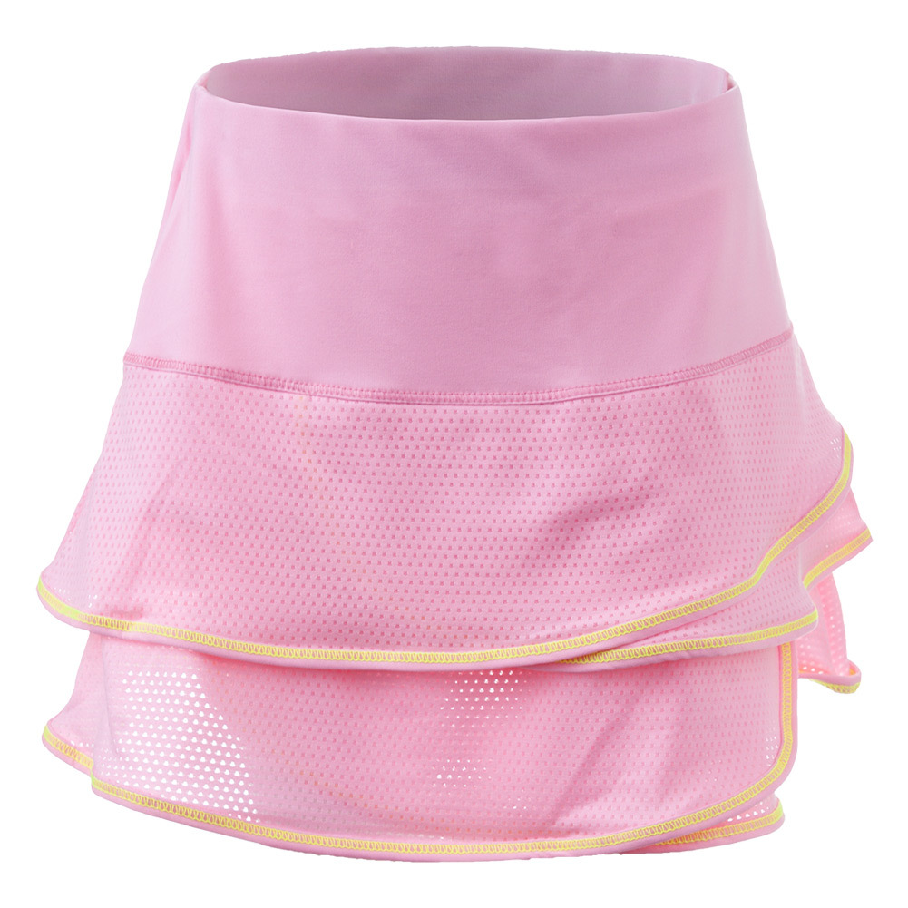 Girls ` Pindot Scallop Tennis Skort Lite Pink