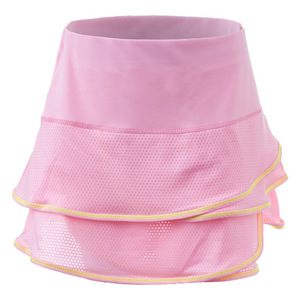 Girls` Pindot Scallop Tennis Skort Lite Pink