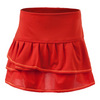 LUCKY IN LOVE Girls` Pleated Tier Tennis Skort Crimson