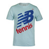 NEW BALANCE Men`s Flying NB Tennis Tee Ice Blue