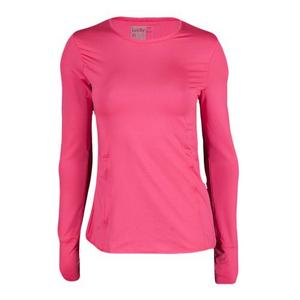 Women`s Long Sleeve SPF Tennis Crew Shocking Pink