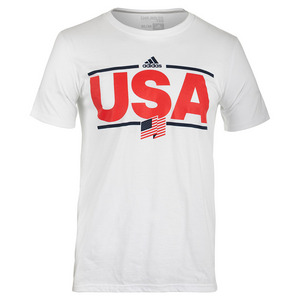 Men`s USA Graphic Tee White