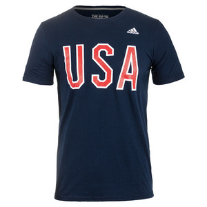 Men`s USA Graphic Tee Collegiate Navy