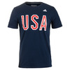 ADIDAS Men`s USA Graphic Tee Collegiate Navy