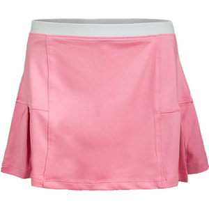 Girls` Pleated Tennis Skort Pink and White