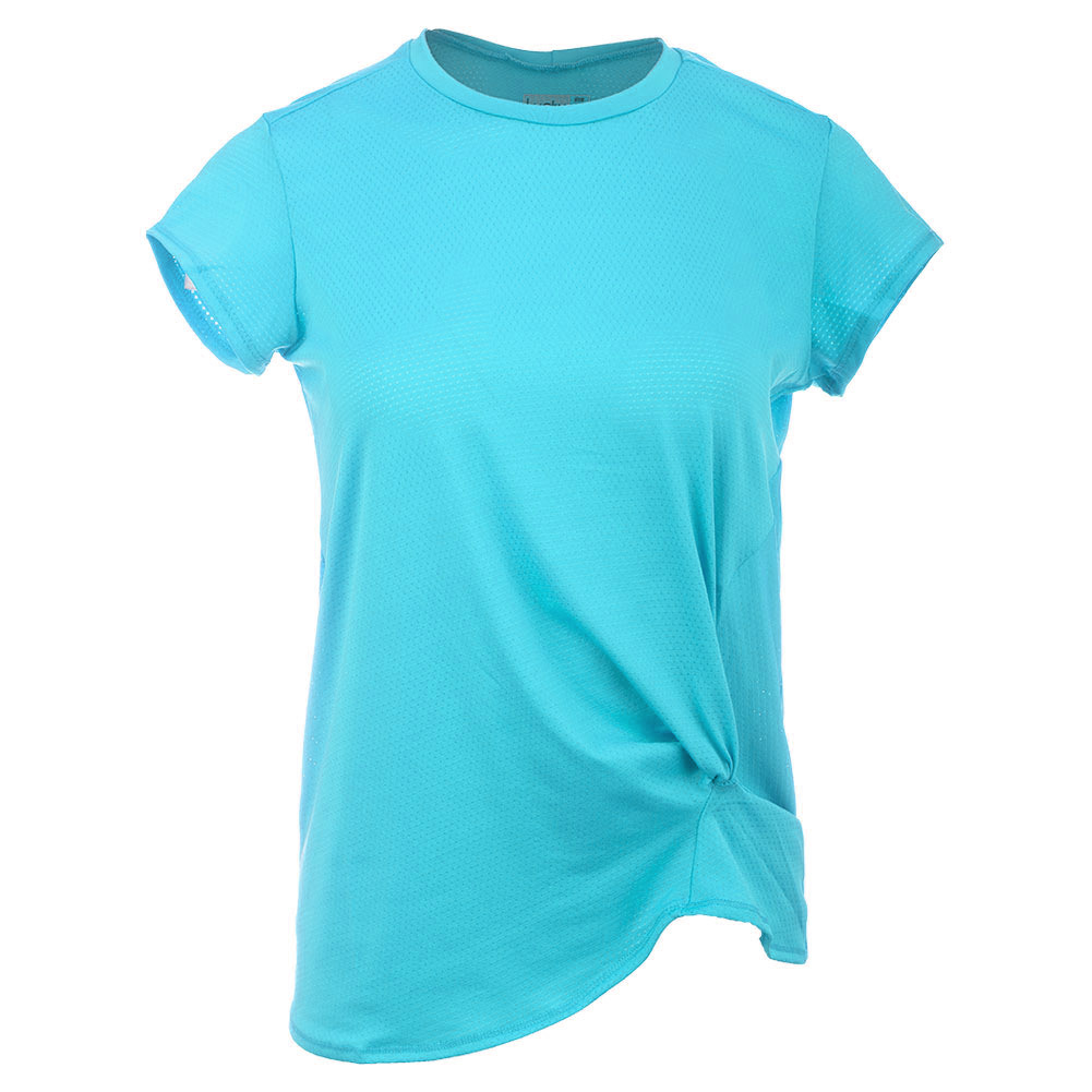 Women's Do The Twist Pindot Tennis Crew Ocean