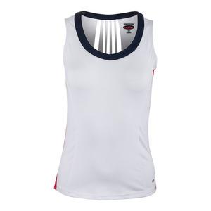 Women`s Carmella Tennis Tank White