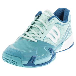 Women`s Rush Pro 2.0 All Court Tennis Shoes Igloo Blue and Azure Blue