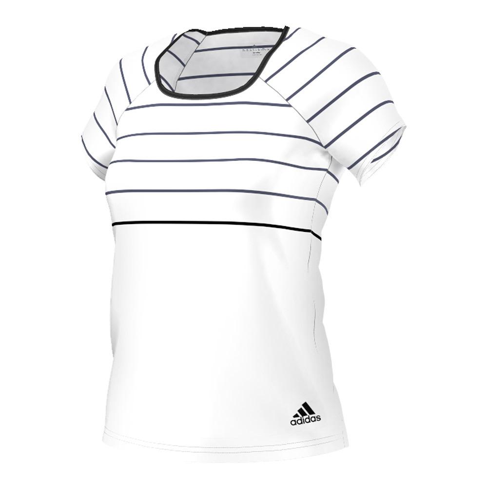 Women's All Premium Tennis Tee White And Black