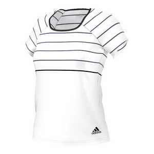 Women`s All Premium Tennis Tee White and Black