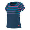 ADIDAS Women`s All Premium Tennis Tee Tech Steel and Flash Red