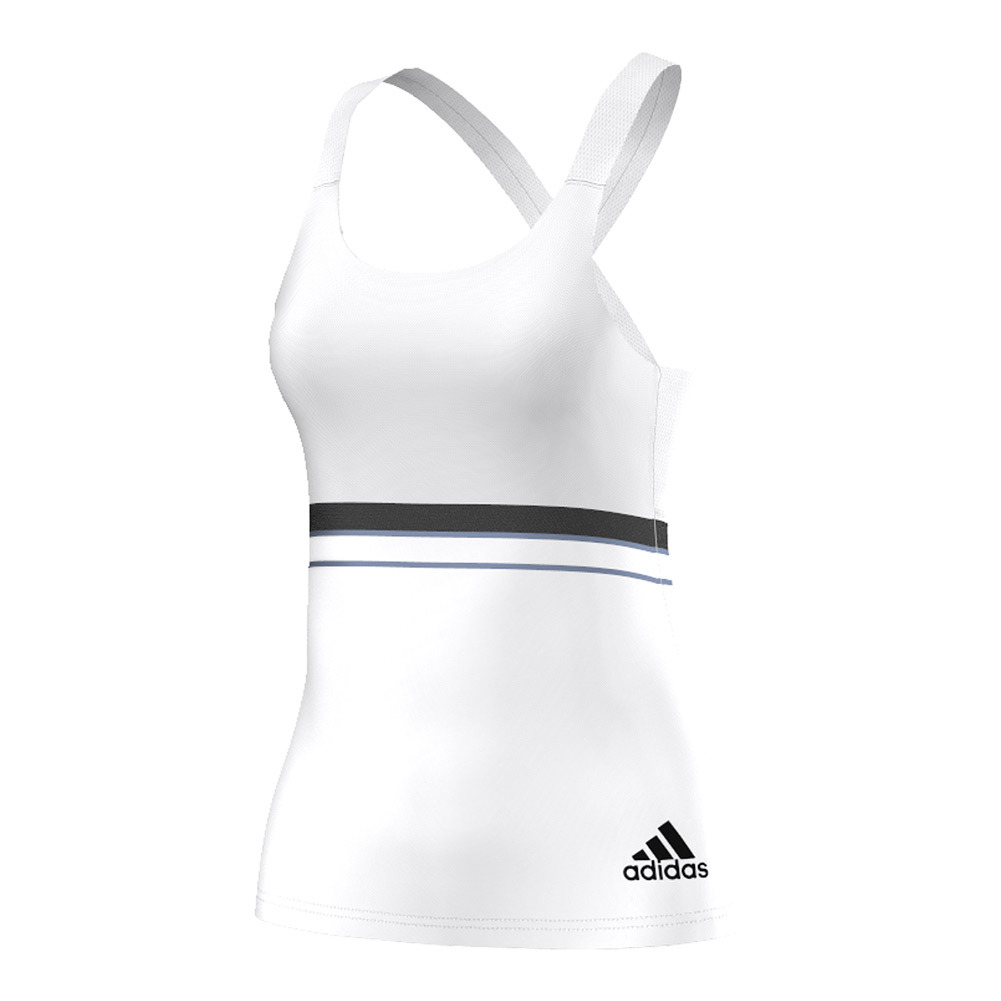 Women's All Premium Strappy Tennis Tank White