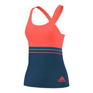 Women`s All Premium Strappy Tennis Tank Tech Steel