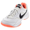 NIKE Women`s Court Lite Tennis Shoes White and Bright Mango