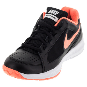 Women`s Air Vapor Ace Tennis Shoes Black and Mango