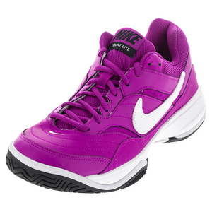 Women`s Court Lite Tennis Shoes Hyper Violet and White