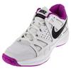 NIKE Women`s Air Vapor Advantage Tennis Shoes White and Hyper Violet